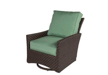 Picture of Palmer Wicker Lounge Chair Swivel Rocker