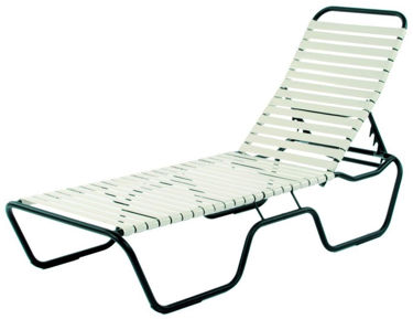 Picture of Commercial Strap Chaise Lounge Sanibel Stacking -Outdoor Patio Furniture – Model: 113S