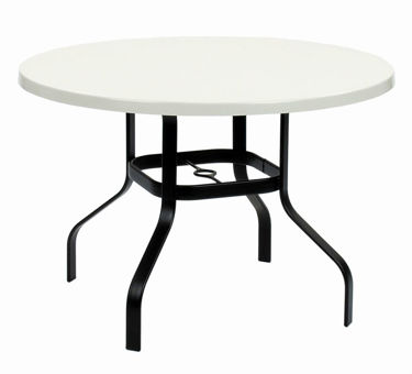 Picture of Commercial Fiberglass Dining Table Welded Base 30 Inch Round -Outdoor Patio Furniture – Model: 30WF
