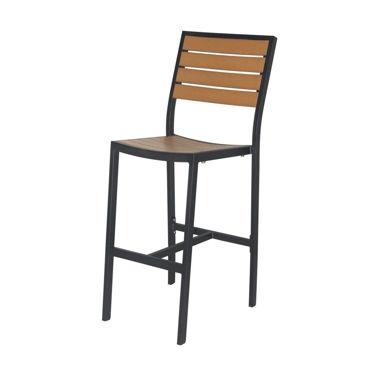 Picture of Napa Bar Side Chair (Black & Teak) SC-2405-172