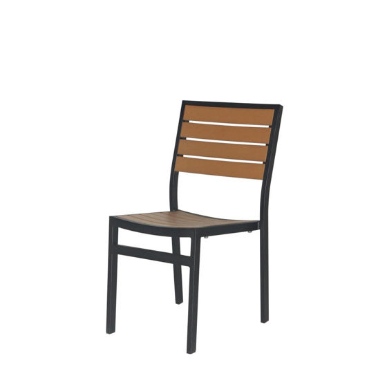 Picture of Napa Dining Side Chair (Black & Teak) sc-2405-162-bt