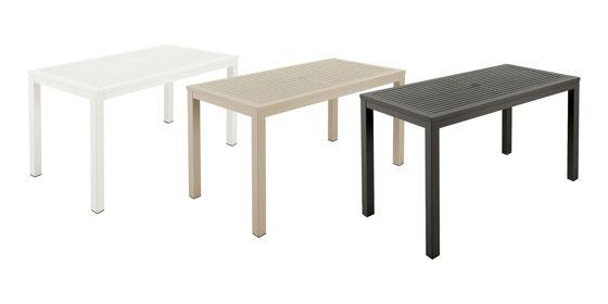 Aura Aluminium Narrow Dining Table 140