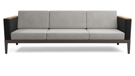 Aura Modular Three-Seat Settee
