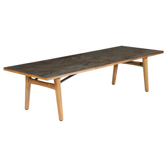 Monterey Dining Table 300 Rectangular - Teak & Ceramic