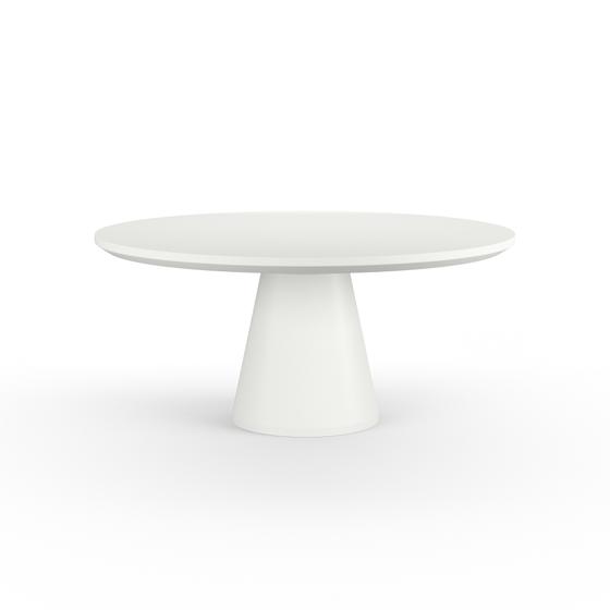Pedestal Dining Table - Bone Designer Outdoor Furniture